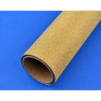 35cm Gold Fine Glitter Film Roll for Christmas Paper Crafts - 2m