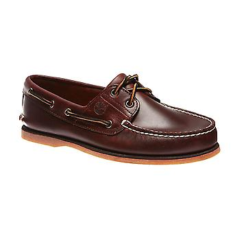 Timberland 2 eye boat classic leather boat shoes Brown