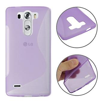 Schutzhülle TPU Case Hülle für Handy LG G3 mini Lila / Violett