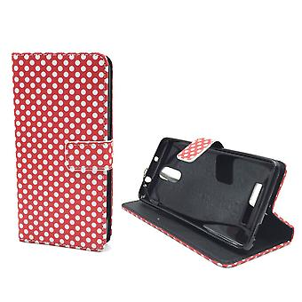 Mobile phone case pouch for mobile Xiaomi Redmi note 3 polka dot Red