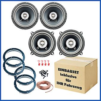 Loudspeaker set suitable for Nissan Micra K12, front and rear
