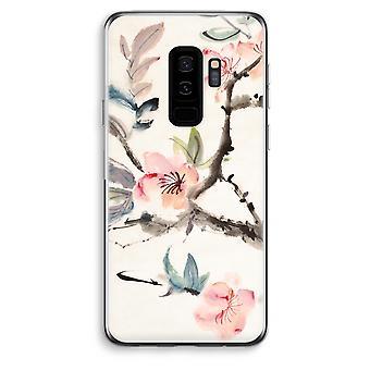 Samsung Galaxy S9 Plus Transparent Case (Soft) - Japenese flowers