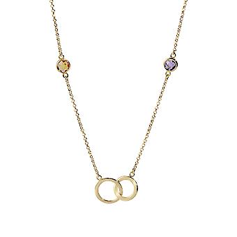 Orphelia Silver 925 Necklace Gold with Multicolored Stones 90 CM