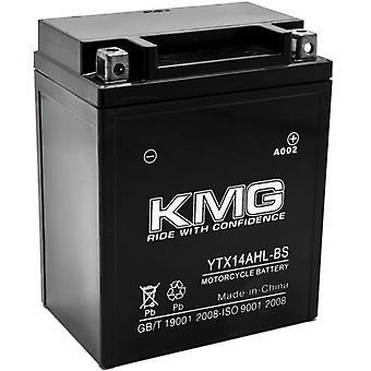 YTX14AHL-BS Sealed Maintenace Free 12V Battery High Performance SMF OEM Replacement Maintenance Free Powersport Motorcycle ATV Scooter Snowmobile Watercraft KMG