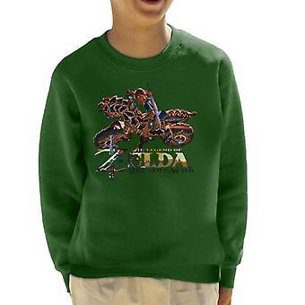 Zelda Breath Of The Wild Motorcycle Kid's Sweatshirt