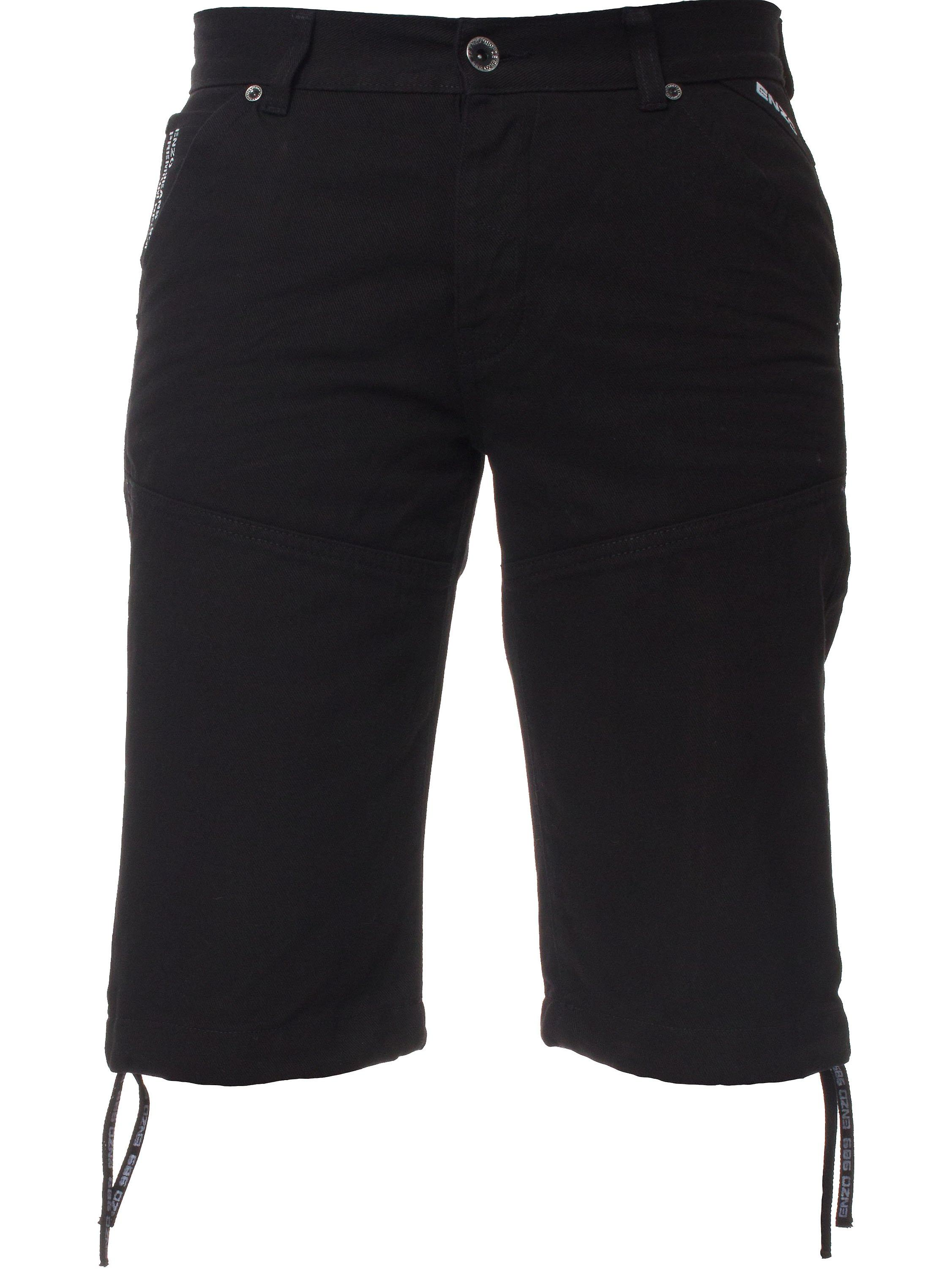 Mens Black Denim Shorts | Enzo Designer Menswear