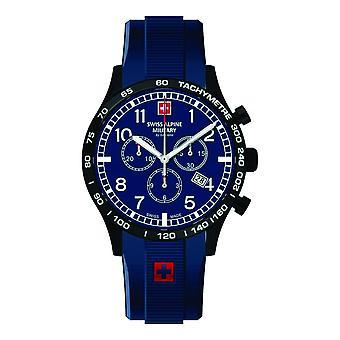 Swiss Alpine military men's watch Chrono 1746.9875SAM silicone