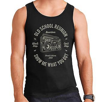 Fun Cool Vintage Boombox Old School Reunion Men's Vest