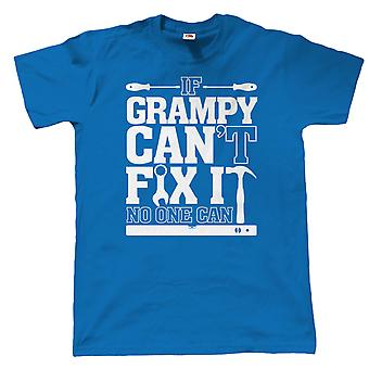 If Grampy Can't Fix It No One Can Funny T Shirt - Gift for Grandad Birthday