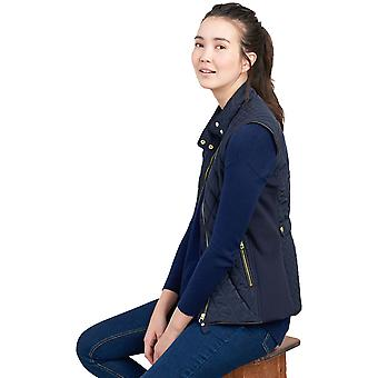 Joules Womens Brookdale Warm Funnel Neck Body Warmer Gilet