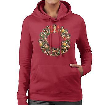 Kerst krans Multi Neil DeGrasse Tyson vrouwen de Hooded Sweatshirt