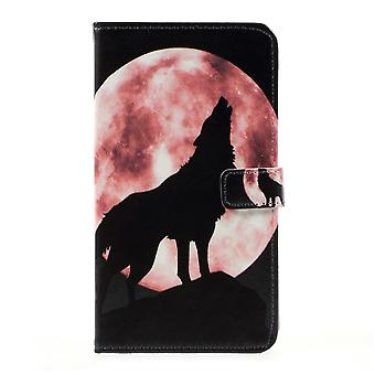 LG G6 wallet pouch Wolf Howling at the Moon
