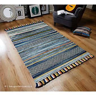 Kelim Stripes Blue Rug