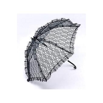 Ombrelloni e fan pizzo ombrello nero