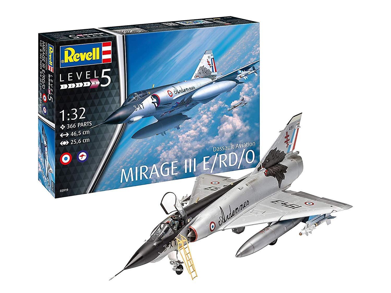 Revell 03919 3919 Dassault Aviation Mirage III E 01 32 échelle Plastic Model Kit