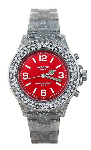 Waooh - Watch VENICE 34 White Glitter