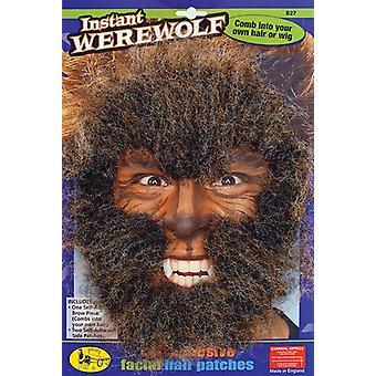Instant Werewolf Face Hair Kit.