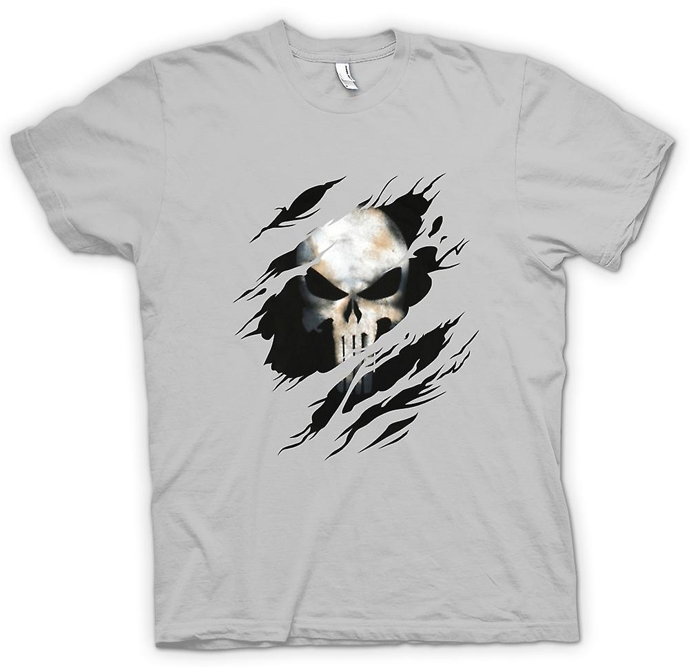 Mens T-shirt - de Punisher - geript Effect