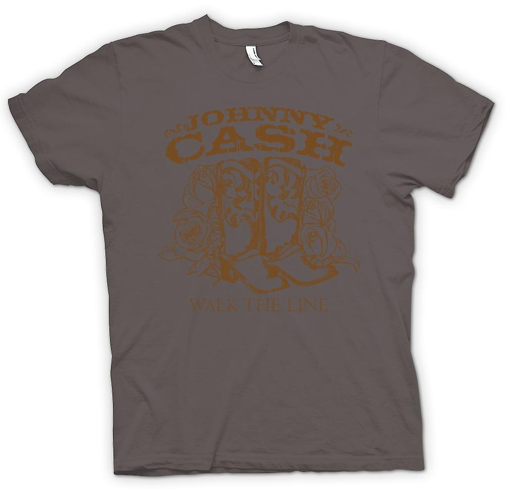 Womens T-shirt - Johnny Cash - in Walk The Line
