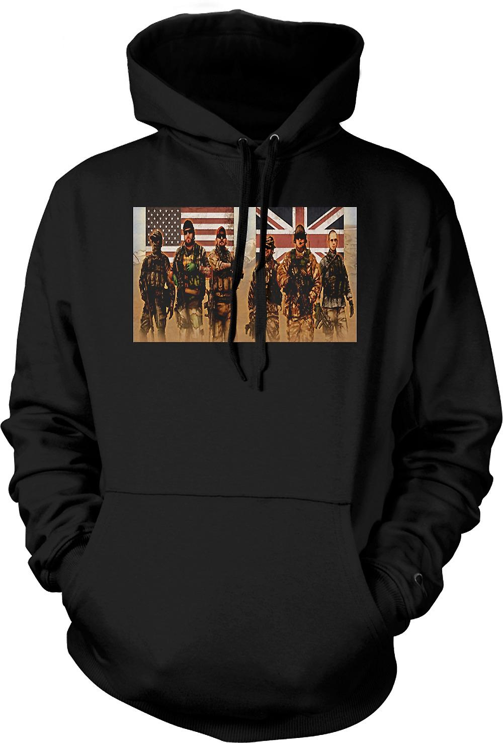 Mens Hoodie - US and UK Special Forces. SAS and Delta