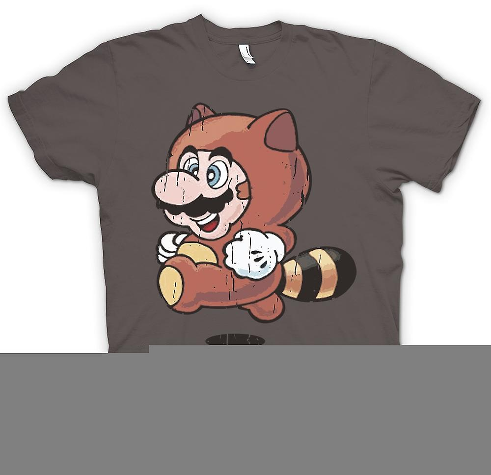 Womens T-shirt - Raccoon Mario - Super Mario Inspired
