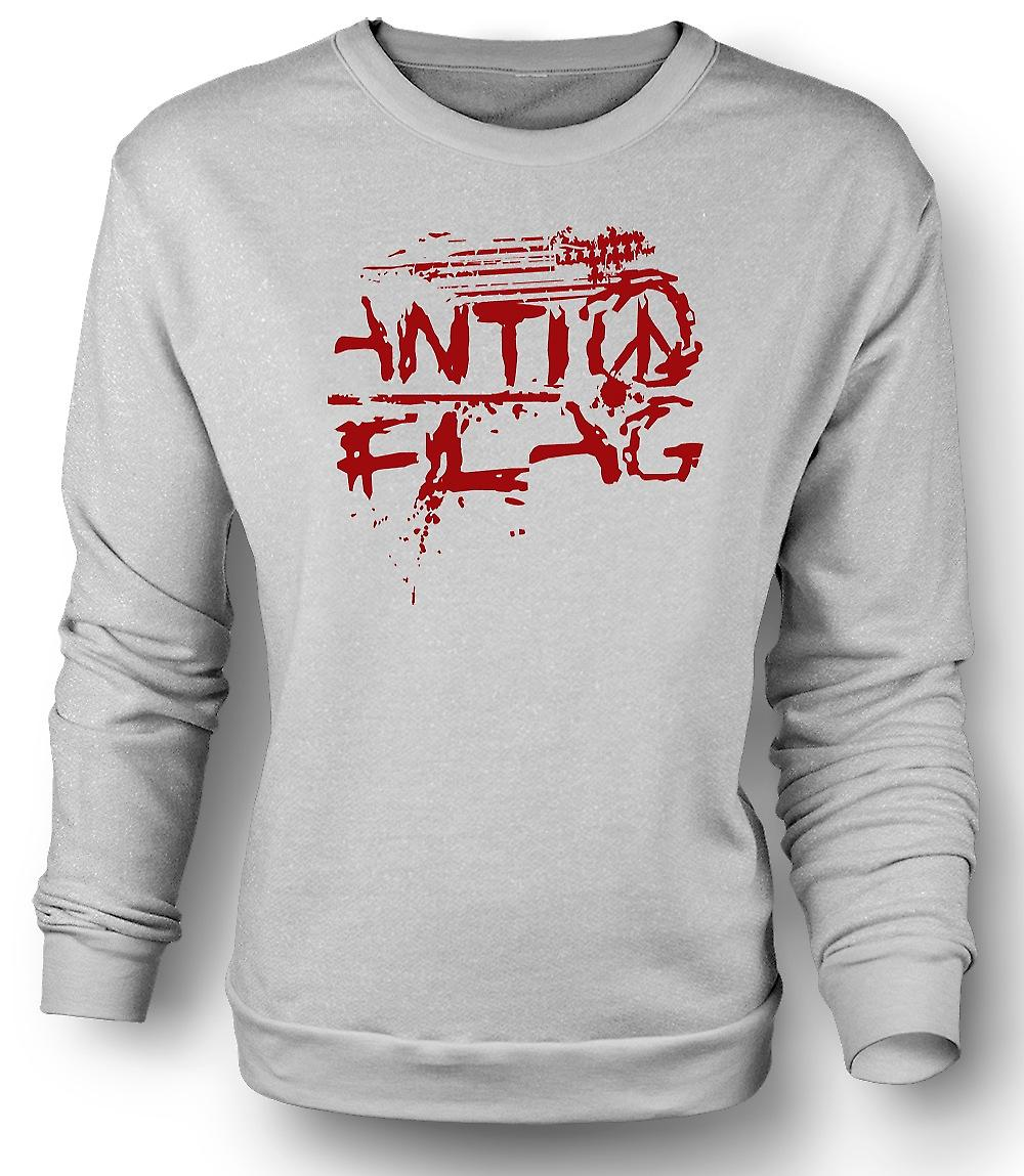Mens Sweatshirt Anti - flagg - U.S. - Punk Rock-Band - Anarchy