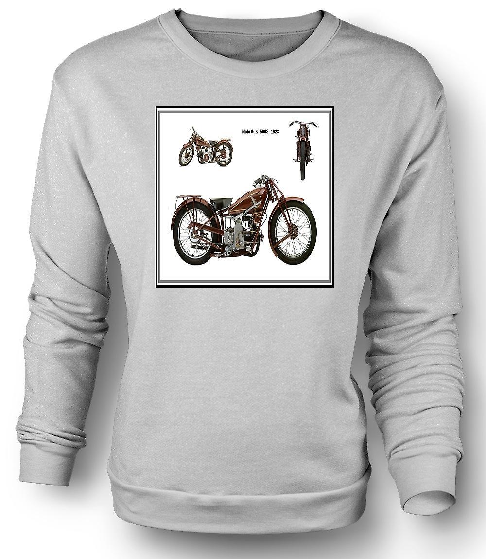 Mens felpa moto d'epoca Moto Guzzi 500S 1928