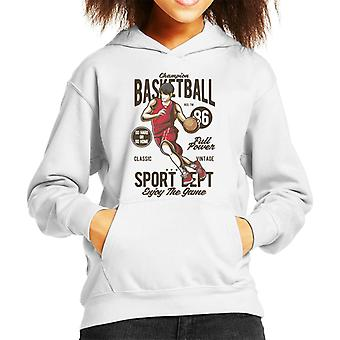 Champion Basketball Sport Dept Kid Sweatshirt mit Kapuze