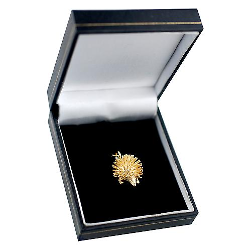 9ct yellow gold 12x21mm Hedgehog Charm or Pendant
