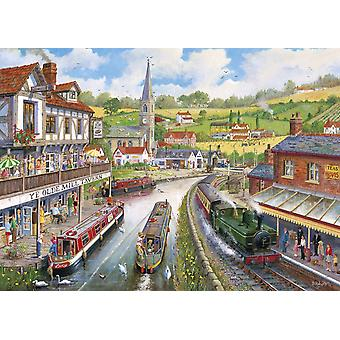 Gibsons Ye Olde Mill Tavern Jigsaw Puzzle, 1000 piece