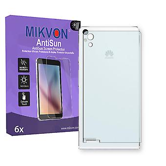 Huawei Ascend P6 reverse Screen Protector - Mikvon AntiSun (Retail Package with accessories)