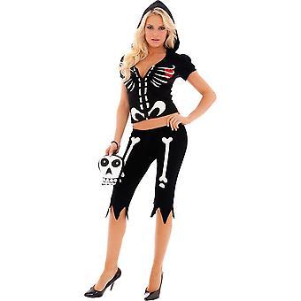 Cute Skeleton Women Costume
