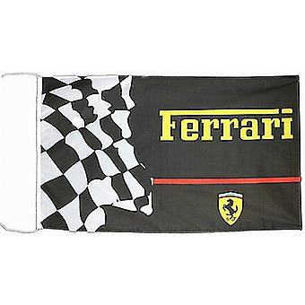 Large Ferrari (black with chequered) flag 1500mm x 900mm  (of)