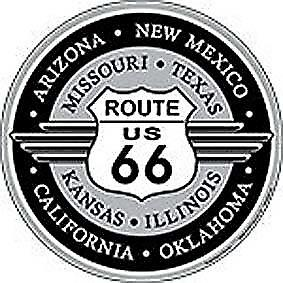 Route 66 round metal sign  (ga)