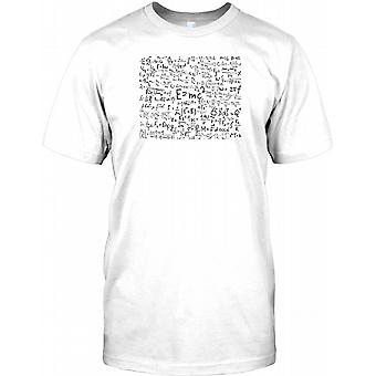 E = MC2 Einsten Théorie cool équation Mens T Shirt