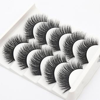 5-pair false eyelashes-6 d faux mink-G206