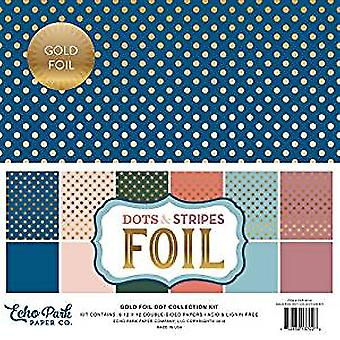 Echo Park Paper Company Spring Gold Foil Dot 12x12 Inch Collection Kit (DSF18026)