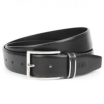 Hugo Boss Accessories Hugo Boss Men's Froppin Black Leather Belt