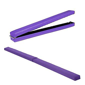 Fun!ture® Purple 8ft Faux Leather Folding Gymnastics Balance Beam