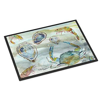 Crab, Shrimp and Oyster Watercolor Indoor or Outdoor Mat 18x27