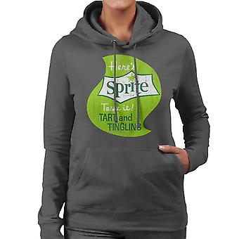 Heres Sprite Taste It 1960s Logo Women's Hooded Sweatshirt
