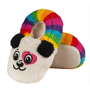 Infants Plush Fleece Cute Panda Full Foot Slippers