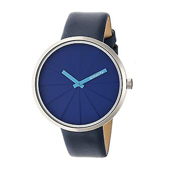 Simplify The 4000 Leather-Band Watch - Blue