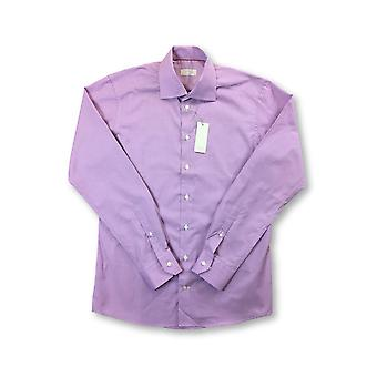 Eton Slim shirt in purple micro houndstooth