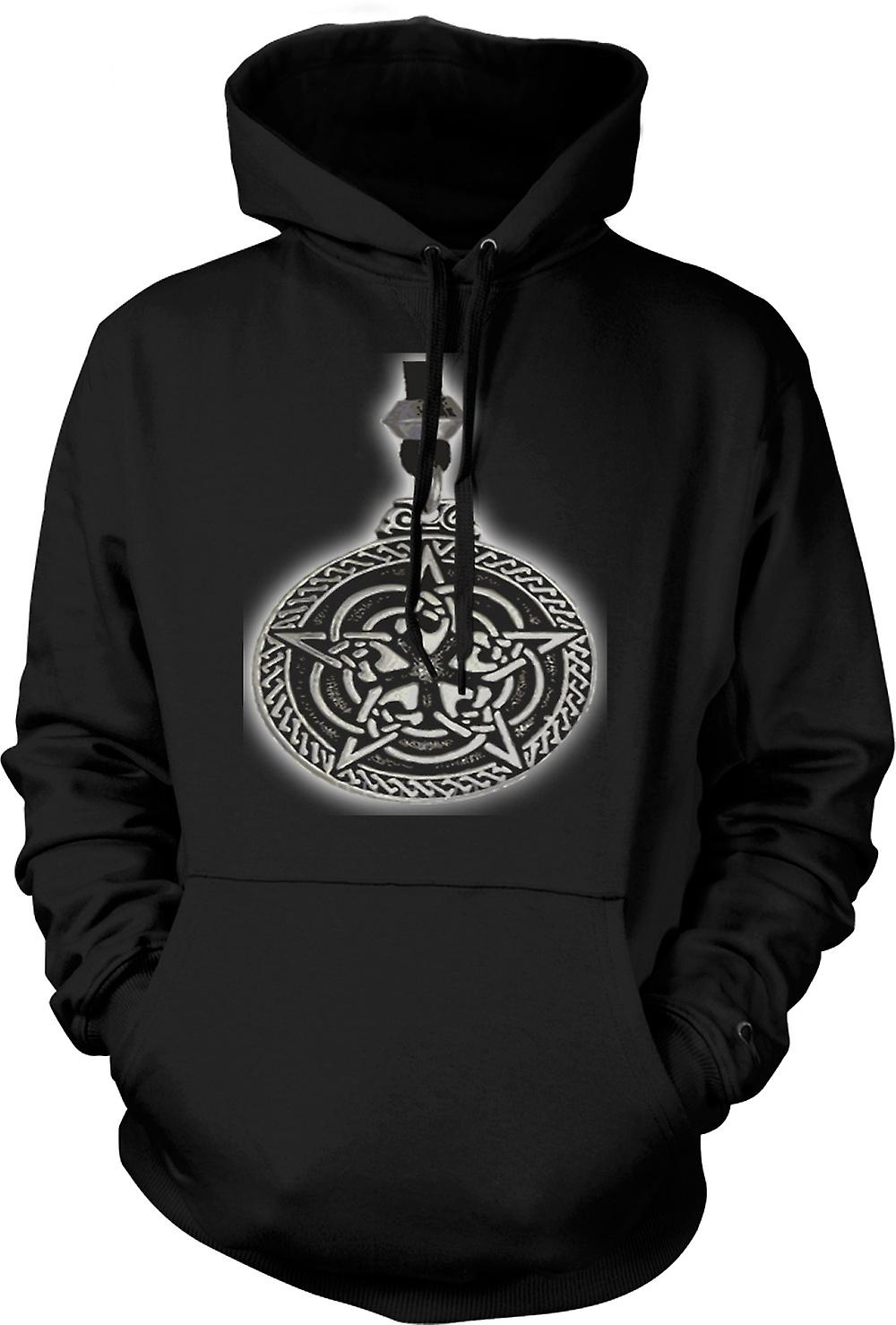 Mens Hoodie - Pagan Medallion - Tribal Art
