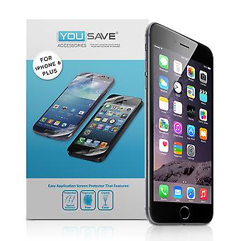 YouSave Accessories iPhone 6 Plus and 6s Plus Screen Protectors x5
