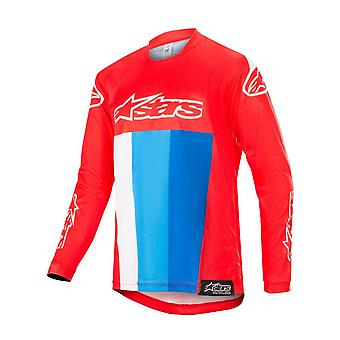Alpinestars Red-White-Blue 2019 Racer Venom Kids MX Jersey