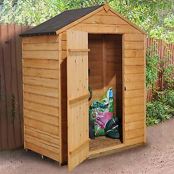 Forest Garden Overlap Dip Treated Apex Shed no window