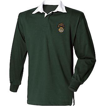 Royal Munster Fusiliers-licenciado britânico exército bordado camisa de manga comprida Rugby