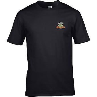 10. Royal Hussars farve-licenseret British Army broderet Premium T-shirt